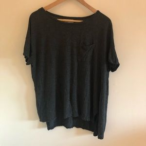 NWOT Hollister Dark Gray loose fit soft cotton tee